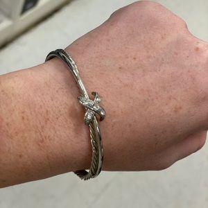 Gorgeous cable cuff bracelet
